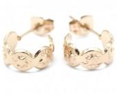 A-B9.2 E001-033RG Stainless Steel Earrings 1cm Rose Gold