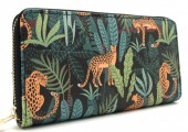 Q-K2.1 WA420-004 Wallet Jungle Leopard 19x10cm