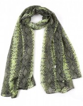 S-H6.2  S313-002 Scarf with Snake Print 90x180cm Green