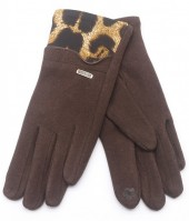 R-G7.2 GLOVE403-111B Gloves Leopard Brown
