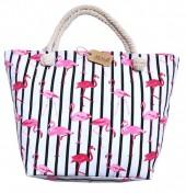 BAG185-007 Beach Bag Flamingos