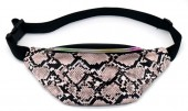 Y-A3.3  BAG524-002C PU Waist Bag Snake Pink