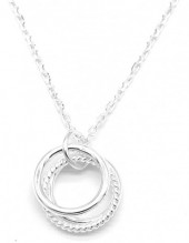 A-D5.5 SN104-165 Necklace 925S Silver with 8mm Rings