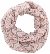 X-M6.2  Loop Scarf with Lines Grey-Pink
