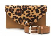 WA220-007 Belt Bag with Leopard Print Brown
