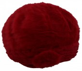 T-G6.3  Soft Fake Fur Hat with Flower Red
