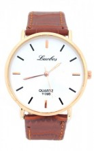 D-C16.2 WA203-003 Quartz Watch with PU Strap Rose Gold-Brown 40mm