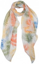 X-N4.1 SCARF507-012B Scarf with Leaves 180x90cm