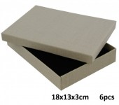 Z-D3.3 Giftbox for Jewelry 18x13x3cm Grey 6pcs