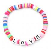 A-B23.2 B316-020A24 Elastic Bracelet LOVE Multi