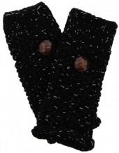 J-F2.2 Hand Warmers with Glitters Black