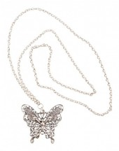 E-A9.2 Butterfly Necklace with Crystals N1732-003 85-90cm