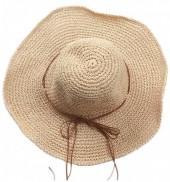 Q-H3.2 HAT504-003B Woven Hat Light Brown