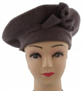 S-D6.4 Trendy Woolen Baret Light Brown