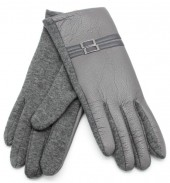 S-B7.5 GLOVE403-009A Gloves with Double PU Strap Grey