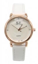 B-D6.3  W523-028 PU Quartz Watch 34mm White