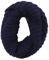Y-A6.3 Knitted Loop-Col Scarf Blue