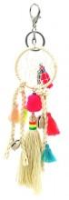 H-E5.1 KY536-010 Bag- Key Chain Tassels- Shells and Dreamcatcher