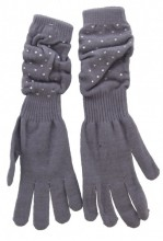 S-A7.3 Long Gloves with Crystals Grey