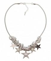 A-A26.3   Necklace Metal Stars     41cm