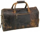 Y-B5.2 BAGI-023 Luxury Vintage Leather Sporting-Travel Bag 55x30x22cm