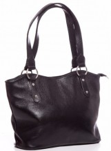 T-E6.1  BAG-553 Leather Bag 40x28x11cm Black
