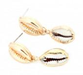 E-E7.5  E304-031 Metal Earrings with Gold Plated Shell