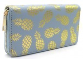 R-G3.1 WA529-002C PU Wallet Pineapples 19x10cm Blue