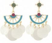 E-C6.1 E1631-015A Earrings with Shells 5x2.5cm Gold