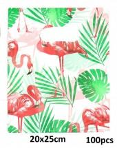T-L7.2 Plastic Bags Flamingo 100pcs 20x25cm