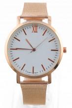 A-D15.4 Trendy Rose Gold Metal Watch 35mm