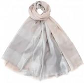 K-C2.2 S002-002 Soft Square Scarf Shiny 140x140cm Pink-Silver