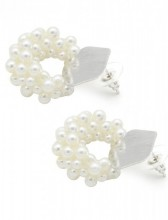 A-D19.3 E318-006 Earrings with Pearls Silver