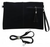 Q-J6.1 BAG014-003 Black PU Bag 32x21cm