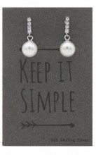 A-F5.3 SE104-019 Earrings 925 Sterling Silver Crystals and Pearls