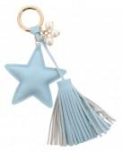 J-A8.3  Bag-Key Chain Star Blue 18cm