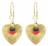 G-F17.5  E2019-035S Earrings Heart 1.5x3cm Gold
