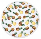 BT003-001-292 Roundie Beach Towel 150cm Pineapples