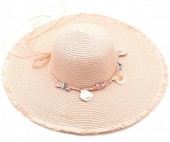 Z-F3.3  HAT315-001B Summer Hat with Shells Pink