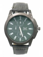 A-B21.3 W523-011E Quartz Watch with PU Strap 45mm Grey