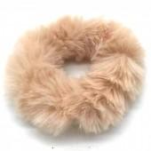 S-I1.4 H414-002 Scrunchie Fluffy Brown