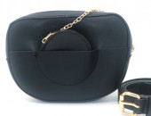 Y-A5.4 BAG534-002A Bum-Shoulder Bag with Wallet and Belt 20x15x5cm Black