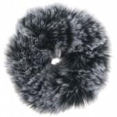 S-D6.2  H414-004A Fluffy Scrunchie Large Grey Multi