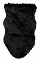 Y-C1.5 FM111-001 Soft Sheepskin Rug Fake Fur 100x60cm Black