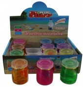 Glass Yar with Slime and Surprise Mixed Colors 12pcs Display