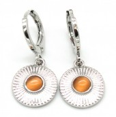 B-A2.3 E426-003 Earrings 10mm with Charm 10mm Silver