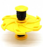 Spring With Flip Top Spinner Mixed Design Yellow