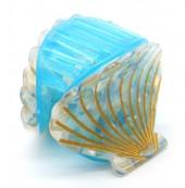 X-J9.2  H413-047D Hair Clip Shell 4.5cm Blue