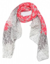 X-M3.1  S206-005 Scarf with Leopard Print 100x180cm Pink