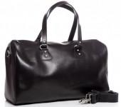 T-I5.1 BAG-921 Luxury Leather Travel-Sport Bag 47x32x16cm Black